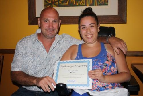 Zandra Genovese, Girl Scout Gold Award Recipient