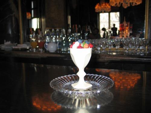 Le Harcourt dessert by Chef Guy Martin Cristal Room Baccarat Paris photo by Paige Donner copyright 2015