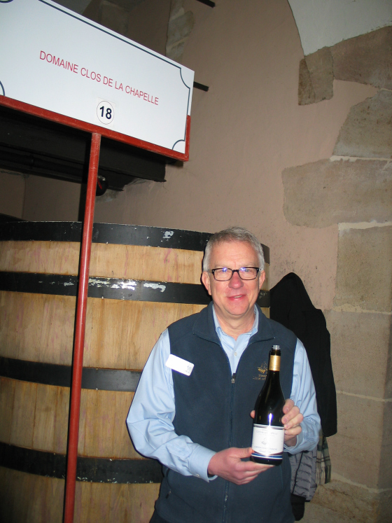 Mark O'Connell from Domaine de la Chapelle - at Aloxe-Corton en Bourgogne photo by Paige Donner copyright 2016