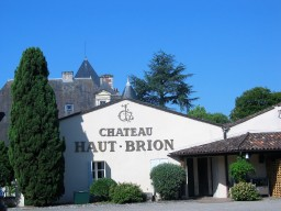 a flask of Chateau Haut-Brion wine