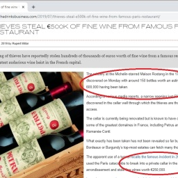 Petrus, Margaux, Yquem, Lafite Rothschild – Wine Thefts Escalate In France